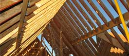 LP LSL residential rafter structure